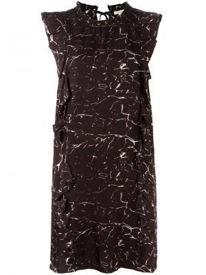 Короткое платье с комбинированным принтом Bellerose. Цвет: чёрный