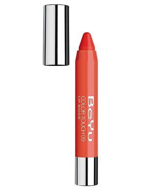Блеск-бальзам для губ COLOR TOUCH LIP BIGGIE 09, 2,8г BEYU. Цвет: оранжевый