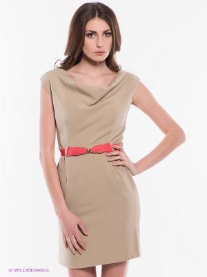 Платье Tropical Wear. Цвет: бежевый