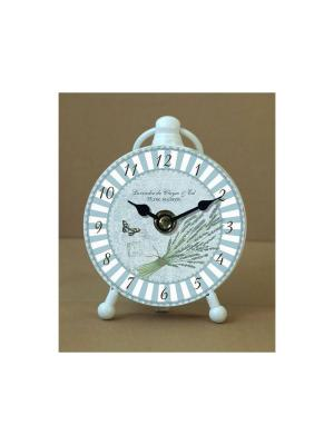 Часы настольные Полоски Magic Home. Цвет: белый