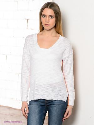 Пуловер CONVER. Цвет: оранжевый, белый