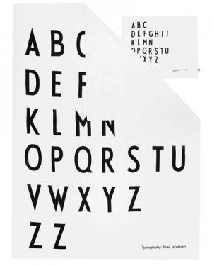 Постельное белье Design Letters. Цвет: белый и черный