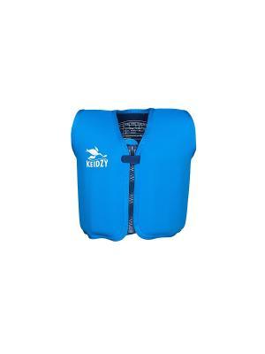 Плавательный  жилет Keidzy. Цвет: голубой