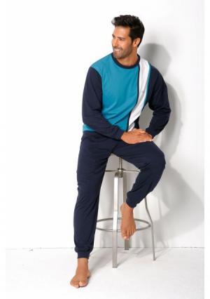 Пижама H.I.S.. Цвет: бирюзовый/синий/белый