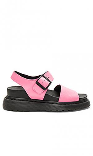 Укороченные расклешенные брюки romy Dr. Martens. Цвет: розовый