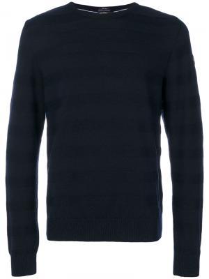 Полосатый трикотажный свитер Paul & Shark. Цвет: синий