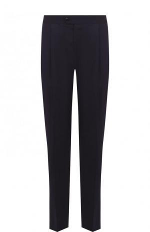 Шелковые брюки домашние прямого кроя La Perla. Цвет: темно-синий