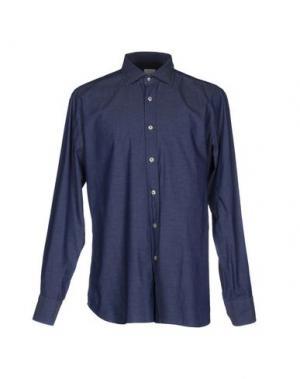 Джинсовая рубашка CALIBAN. Цвет: синий