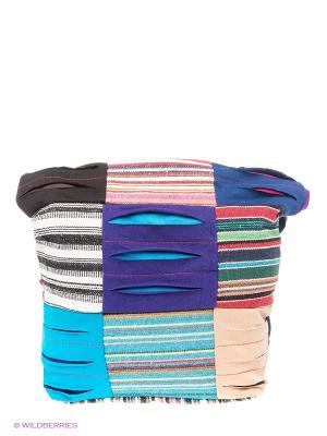 Сумка Hippie Indira. Цвет: темно-фиолетовый, голубой, бирюзовый