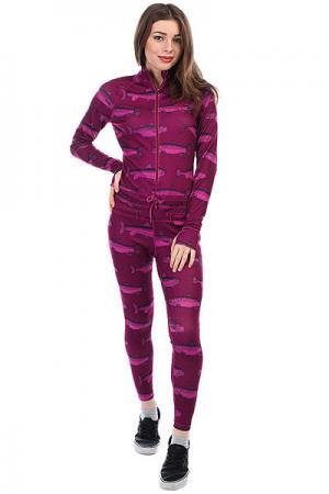 Термобелье (комбинезон) женское  Hoodless Ninja Suit Berry Fish Airblaster. Цвет: фиолетовый
