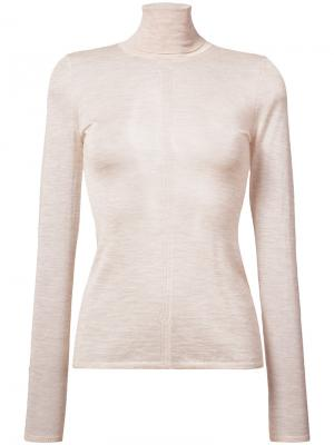 Slim fit roll neck sweater Gabriela Hearst. Цвет: телесный