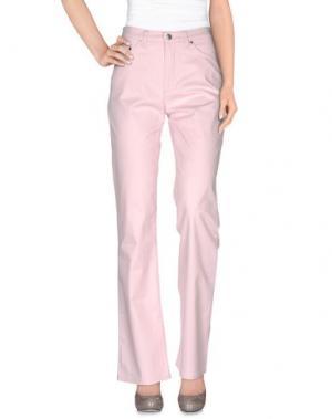 Повседневные брюки BARONI. Цвет: светло-розовый