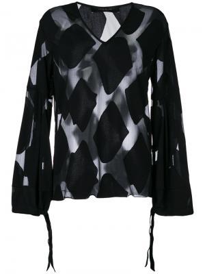 Блузка с V-образным вырезом Federica Tosi. Цвет: чёрный