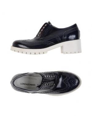 Обувь на шнурках LORENZO MARI. Цвет: темно-синий