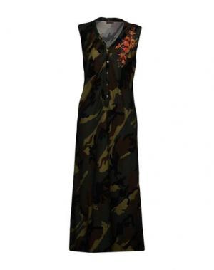 Длинное платье GRAZIA'LLIANI SOON. Цвет: зеленый-милитари