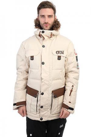 Куртка парка  Leno Real Beige Picture Organic. Цвет: бежевый
