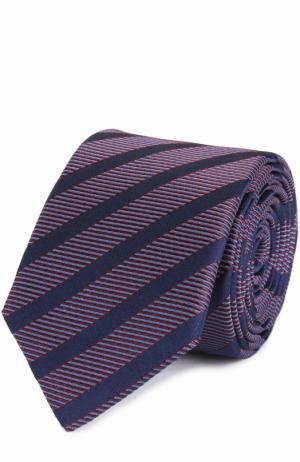Шелковый галстук в полоску HUGO. Цвет: бордовый