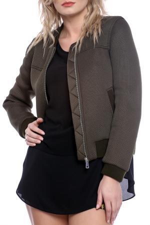 Куртка Emma Monti. Цвет: темно-оливковый