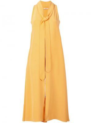Платье без рукавов Edun. Цвет: жёлтый и оранжевый