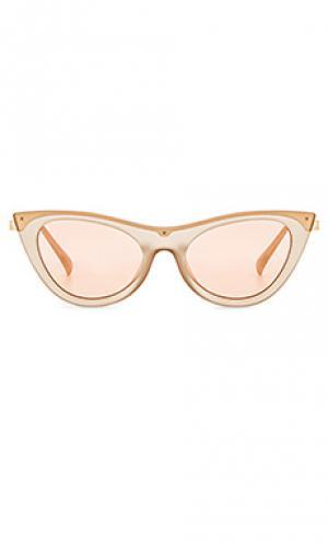 Солнцезащитные очки enchantress Le Specs. Цвет: белый