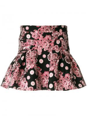 Расклешенная жаккардовая юбка Giamba. Цвет: многоцветный