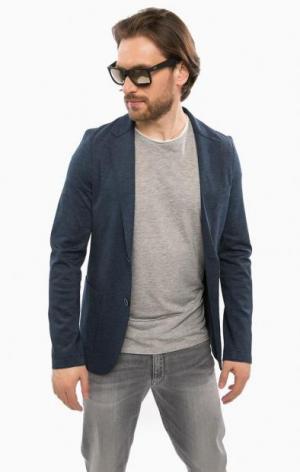 Трикотажный пиджак из вискозы Cinque. Цвет: синий