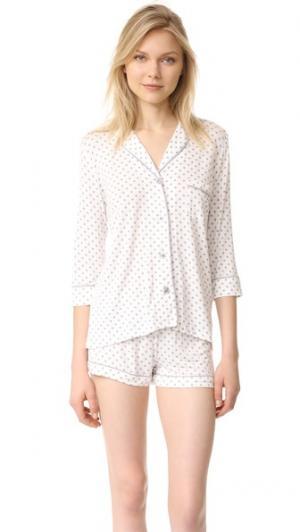 Пижама в горошек PJ Salvage. Цвет: коричневый