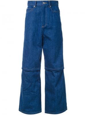 Широкие джинсы G.V.G.V.. Цвет: синий