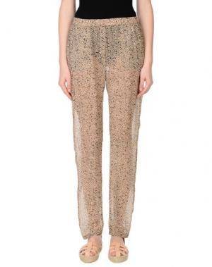 Повседневные брюки HUMANOID. Цвет: песочный