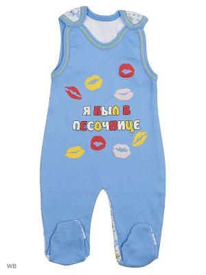 Ползунки для новорожденных Bonito kids. Цвет: синий