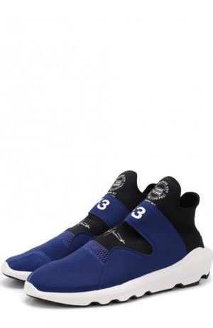 Текстильные кроссовки Suberou без шнуровки Y-3. Цвет: синий