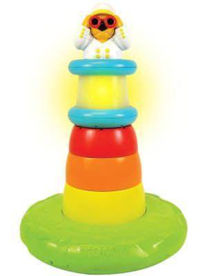 Пирамидка для ванной Маяк# TOMY.. Цвет: белый