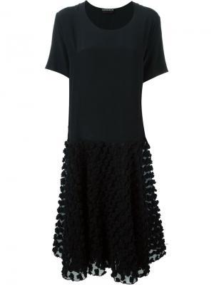 Кружевное платье Rochas. Цвет: чёрный