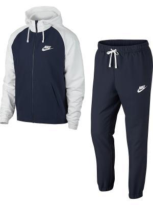 Спортивный костюм M NSW TRK SUIT HD WVN Nike. Цвет: белый, серый