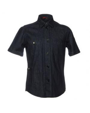 Джинсовая рубашка BARENA. Цвет: синий