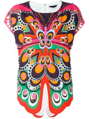 Блузка с принтом Manish Arora. Цвет: многоцветный