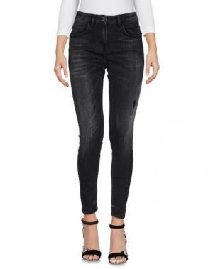 Джинсовые брюки MANGANO. Цвет: черный