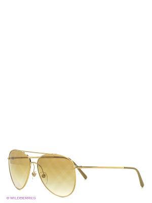 Солнцезащитные очки BURBERRY. Цвет: золотистый