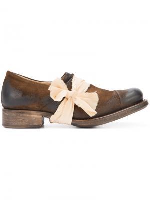 Дерби с квадратным носком Cherevichkiotvichki. Цвет: коричневый