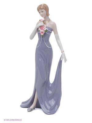 Статуэтка Дама в вечернем платье Pavone. Цвет: фиолетовый