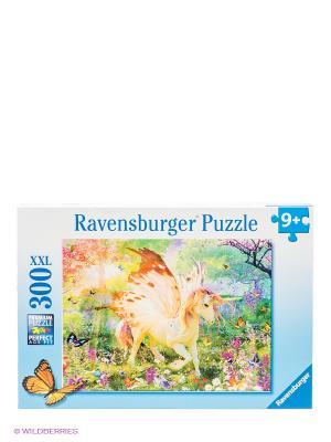 Пазл Единорог в волшебном лесу Ravensburger. Цвет: голубой