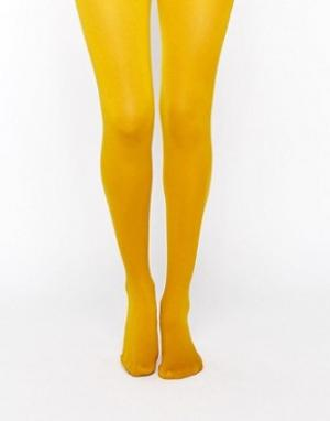 Gipsy Колготки горчичного цвета. Цвет: желтый