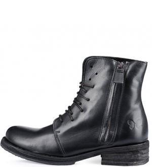 Кожаные ботинки со съемными лентами Felmini. Цвет: черный
