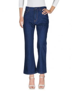 Джинсовые брюки ATTICO. Цвет: синий