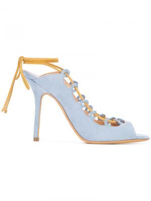 Босоножки с шнуровкой Alexa Wagner. Цвет: синий