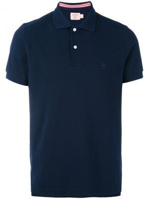 Классическая футболка-поло Brooks Brothers. Цвет: синий