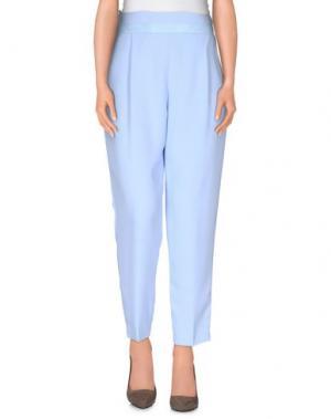 Повседневные брюки BETTY BLUE. Цвет: небесно-голубой