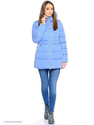 Стеганое пальто Grishko. Цвет: голубой