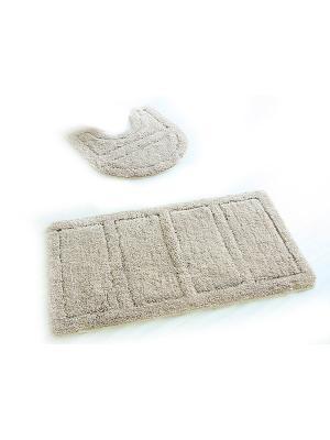 Набор ковриков для ванной комнаты IDDIS. Цвет: бежевый