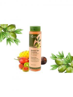 Оживляющий гель для душа с оливковым маслом и экзотическими фруктами Rizes Crete. Цвет: оранжевый